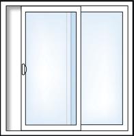 2 Panel Sliding Pation Door
